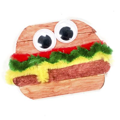 Explore the alphabet with our A to Z Crafts! H is for Hamburger and is perfect for teaching little learners about the alphabet and letter recognition.