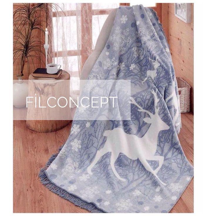 Filconcept'te Kış Pamuklu Battaniye Ebat: 180220cm Fiyat: 5462 #filconcept #kış #battaniye #kışsezonu