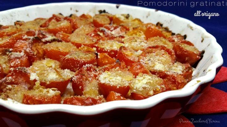 Pomodorini gratinati all'origano