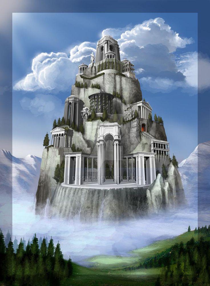 OLYMPUS_monte_Olimpo by Dessin75.deviantart.com on @DeviantArt