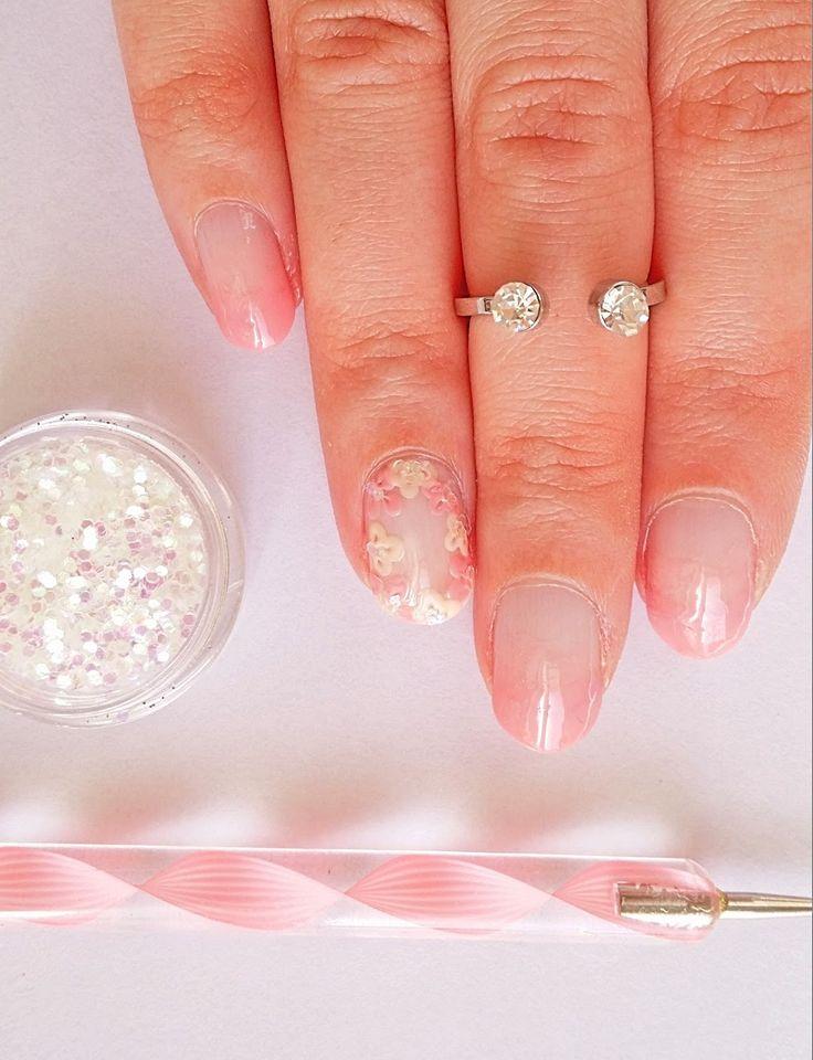 DIY Minimal Spring Nail Design | How to make floral nail art