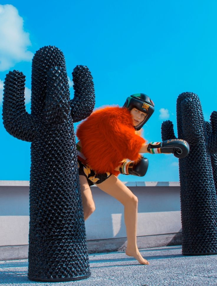 Kris Pechenkina by Diego Diaz Marin for Luisa Via Roma  [Campaign]