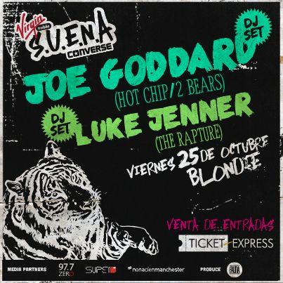 El Dj Set de Joe Goddard de Hot Chip y el de Luke Jenner de The Rapture, fueron los encargados de dar cierre al ciclo S.U.E.N.A. del 2013 #VirginConverseSUENA