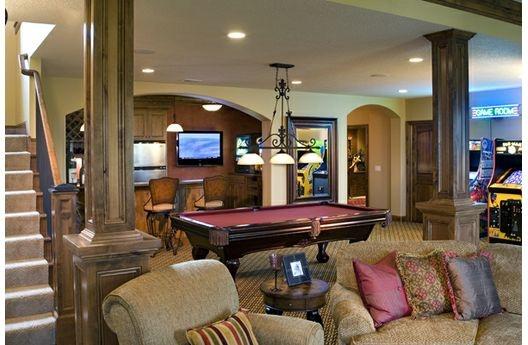Basement: Games Rooms, European Houses Plans, Dreams Houses, Pools Tables, Basements Rooms, Rooms Ideas, Basements Ideas, Bonus Rooms, Man Caves