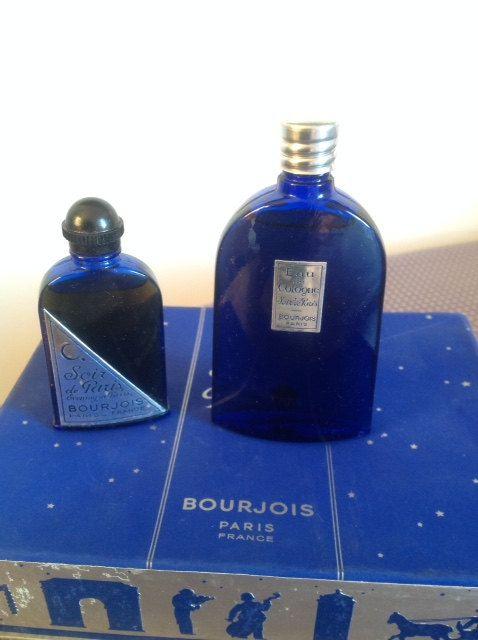 Wonderful box with an extract bottle and an Eau de Cologne bottle of Soir de Paris (Evening in Paris) - Old formula