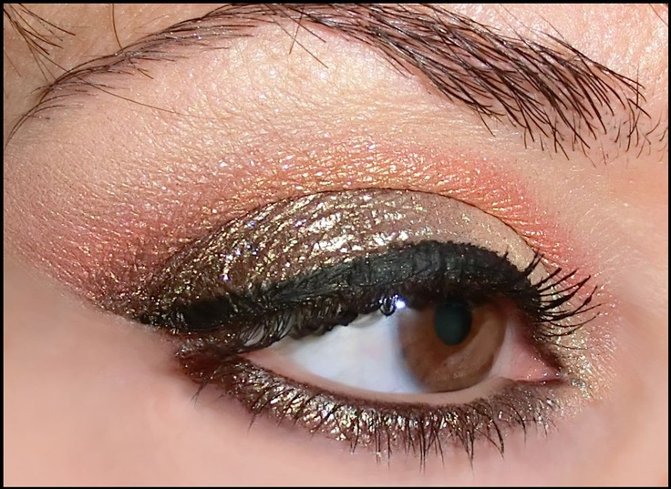 base: too faced glitter glue  lid: darling girl purin (inner), darling girl chococat (outer)  crease: darling girl mango tango  browbone: darling girl surfrider  eyeliner: creamy eyeliner by elf in black  mascara: kiko ultratech
