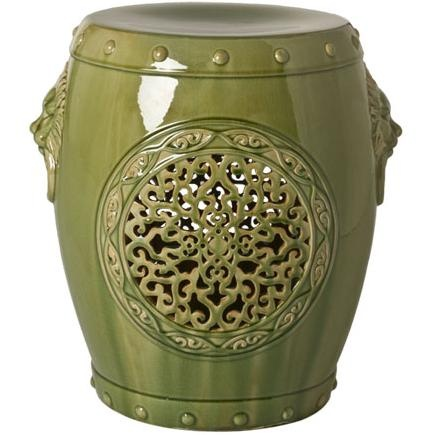 InStyle D Beverly Hills Green Chinese Medallion Garden Stool / Side Table  Inspiring Interior Design Fans With Home Decor Ideas From Hollywood Enjoy U0026  Happy