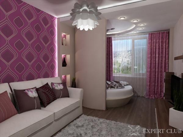 Гипсокартонная перегородка для спальни