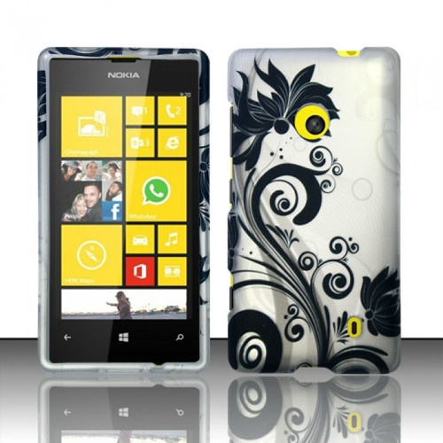 For Nokia Lumia 520 521 Flower Colorful Hard Snap On Cover