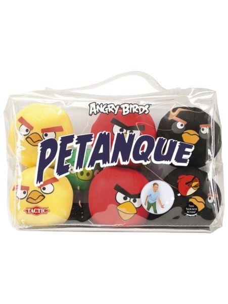 Angry Birds -Petanque on leppoisa heittopeli, jossa jokainen pelaaja yrittää heittää omat pehmopallonsa mahdollisimman lähelle maalipalloa. Angry Birds -aiheiset peliosat ovat kevyet ja helpot heittää, joten pelistä voi nauttia koko perhe. Peliä voit pelata sekä sisällä että ulkona!