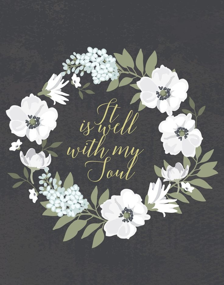 It Is Well With My Soul | Scripture Print