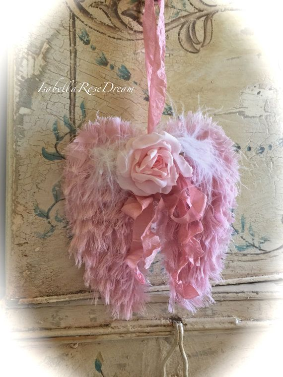 Hey, I found this really awesome Etsy listing at https://www.etsy.com/listing/267226882/pink-angel-wings-shabby-chic-romantic