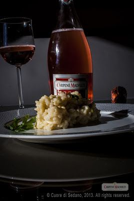 Risotto ai gamberetti e pere con il Rosé Brut #CARPENE' #MALVOLTI