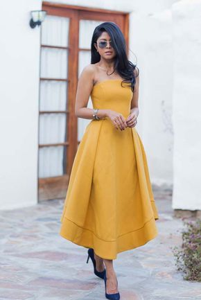 bacb158fb962 20 Summer Dresses You'll Want To Get Your Hands On | Besties | Yellow  evening dresses, Prom dresses, Summer wedding outfits