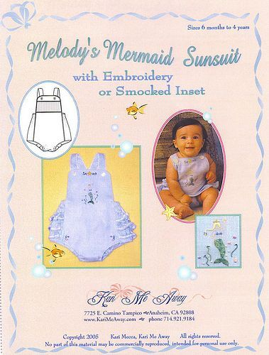 by Away   Melody     s shop Mermaid Boy Php sunsuits online     Sunsuit and Mermaids    Kari Smocking Bonnet Smocking Me women