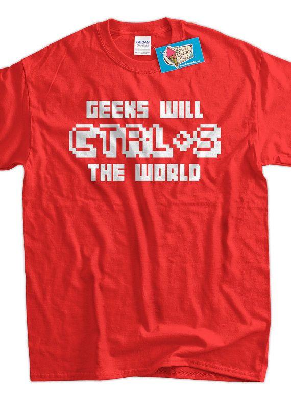 Computer Geek TShirt Geeks Will Save The World by IceCreamTees, $14.99