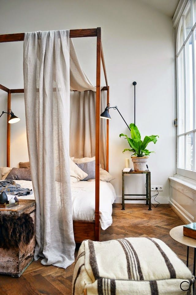 four-poster bed perfection & 138 best Dreamy Canopy Beds images on Pinterest | Bedrooms Bedroom ...
