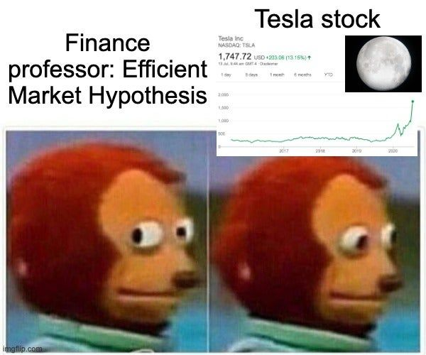 Tesla To The Moon Wallstreetbets Memes Monkey Puppet Top Memes
