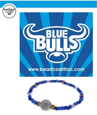 Official Blue Bulls Supporter bracelet. R40 each  www.beadcoalition.com