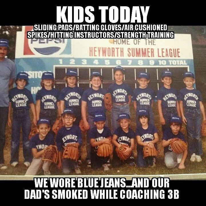 I never wore anything but sweats shorts or baseball pants to practice but everything else.... yep  #AllTeamz  the largest directory of #youth teams online. Add your league or organization today! #sports #youthsports #baseball #football #basketball #swimming #hockey #soccer #fastpitch #softball #fieldhockey #lacrosse #volleyball #cheerleading #gymnastics #futbol #trackandfield #kids #parents