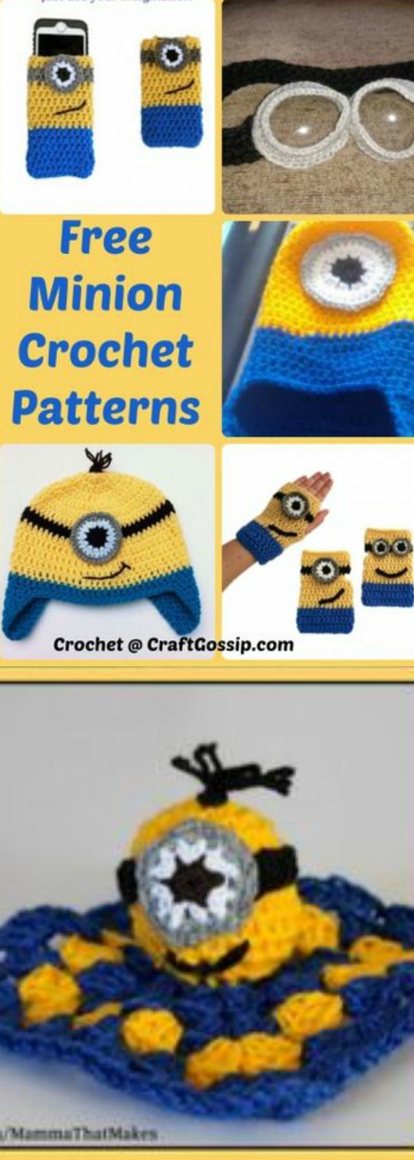 The 25 best minion crochet patterns ideas on pinterest crochet free crochet patterns for minion crochet toys and beanie crochet pattern bankloansurffo Images