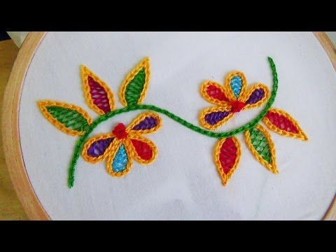 Hand Embroidery: How to Stitch Roses with the Woven Wheel Stitch (Spider Woven Wheel) Tutorial - YouTube