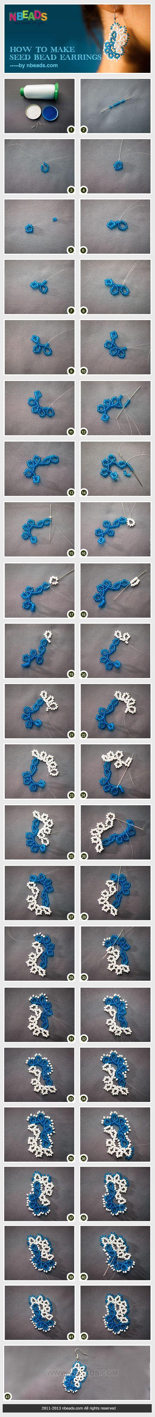 how to make seed bead earrings