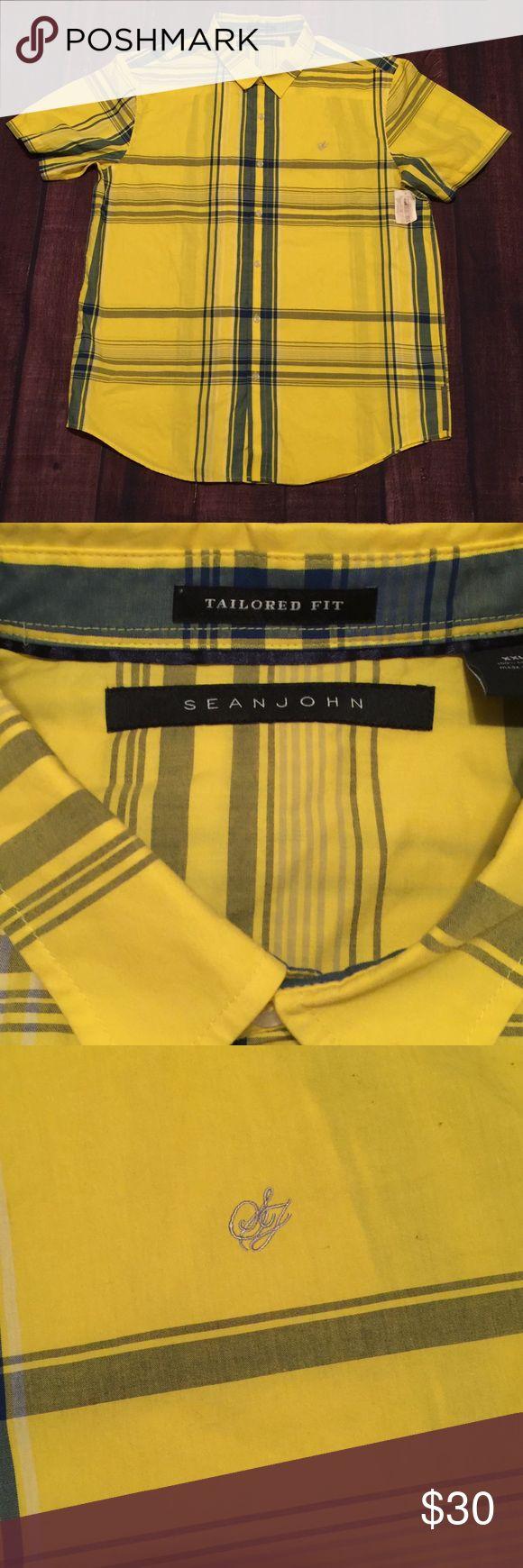 Sean Jean Tailored Dress Shirt Sean Jean Tailored Shirt  Size XXL  100% cotton Sean John Shirts Dress Shirts