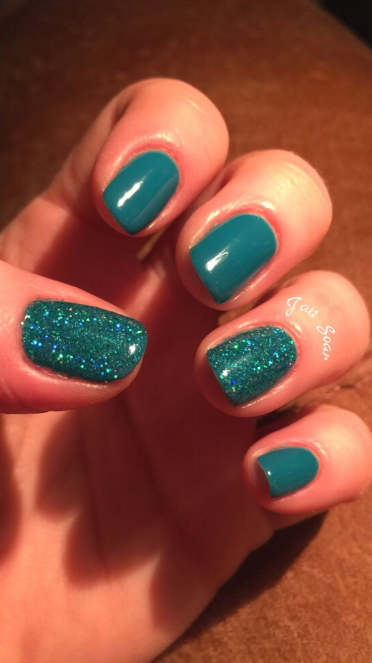 Gelish Garden Teal Party by Jan Soar, Nail Harmony UK
