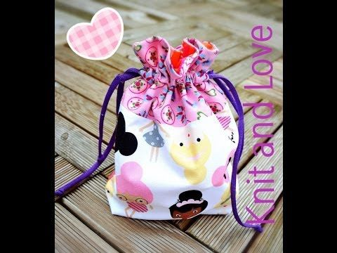 BOLSA DE TELA TUTORIAL / DRAWSTRING BAG TUTORIAL - YouTube