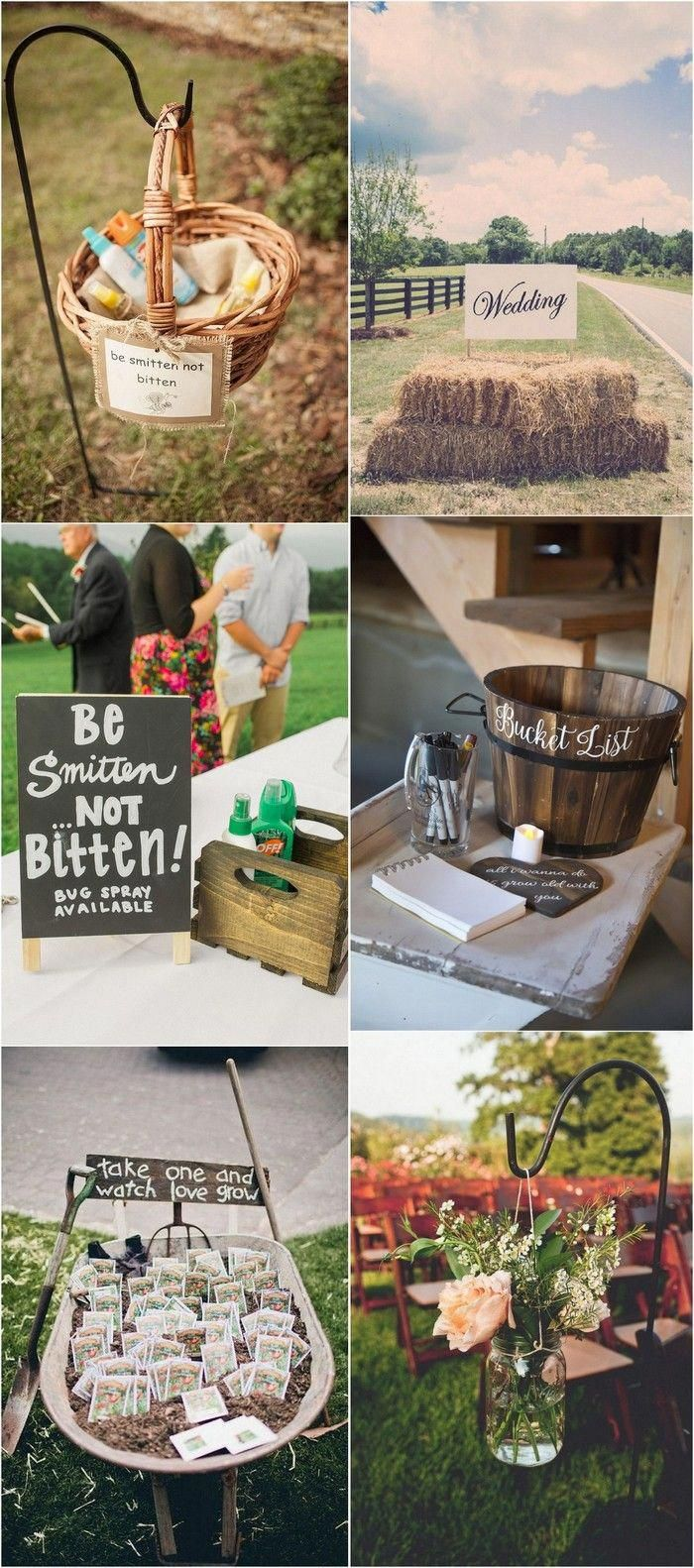 Rustic country wedding simply creative and vibrant decoration ideas. Tip number …