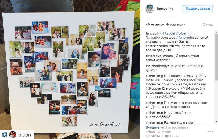 Фотоколлаж на холсте, коллаж из фото, фотоколлаж из фото на заказ - Fancyprint
