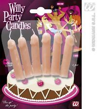 6 Junggesellenabschied Penis Kerzen, Willy Party Candle