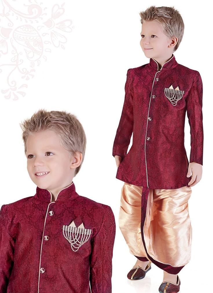 Maroon Kurta Pyjama
