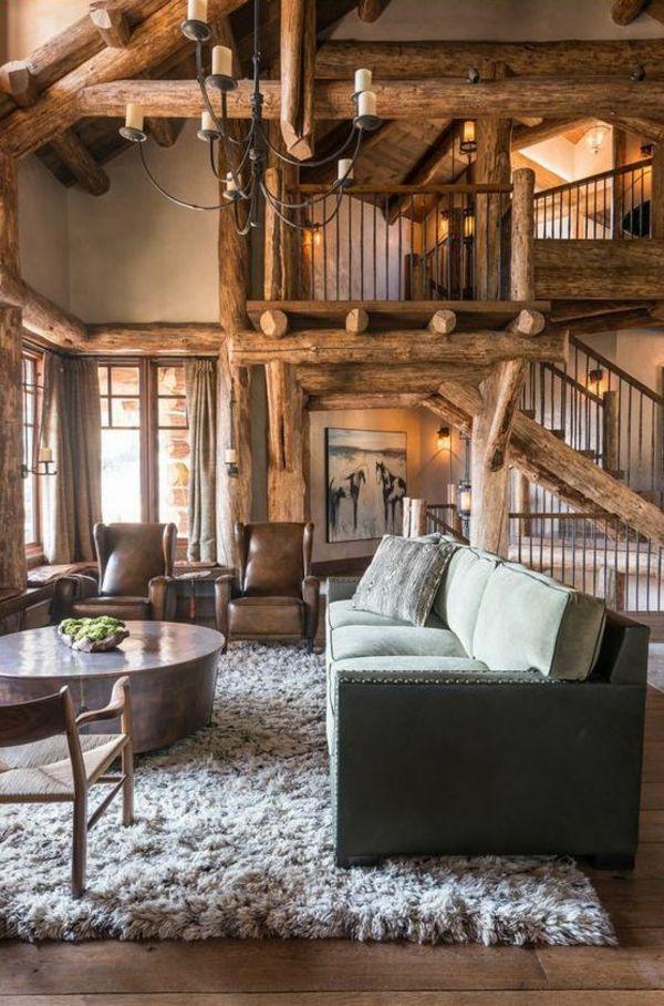 Das Wohnzimmer rustikal einrichten   ist der Landhausstil angesagt   Rustikale wohnzimmermöbel ...