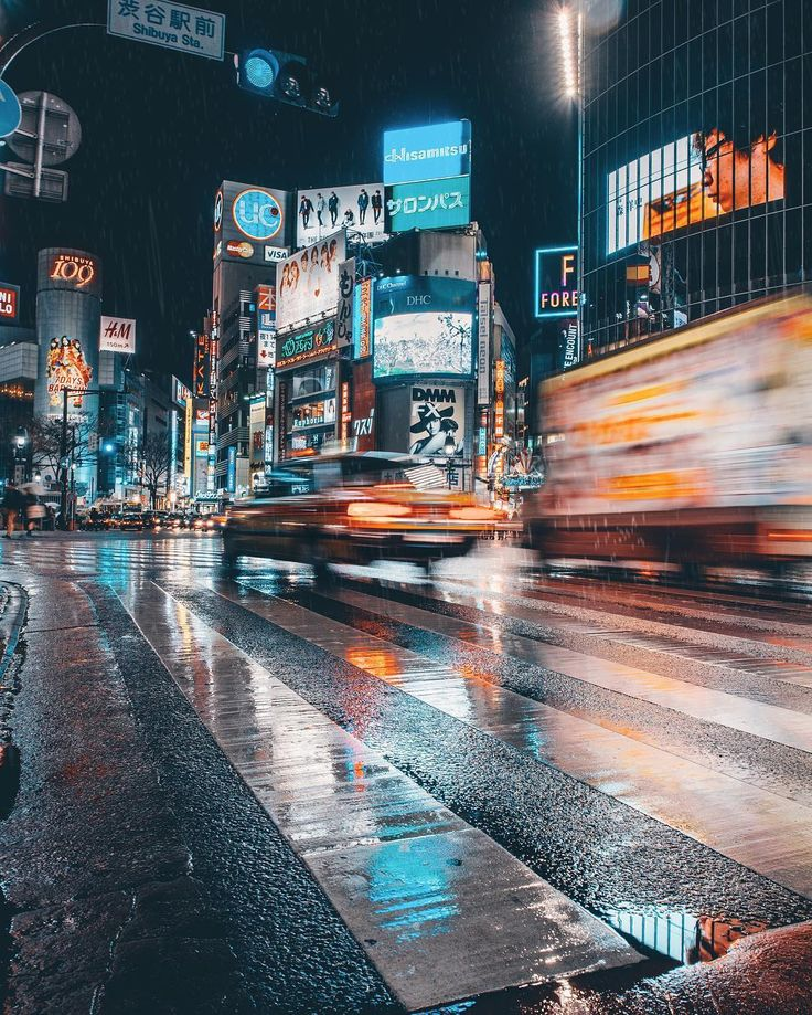 Best Night Street Photography Ideas On Pinterest Rainy - City streets glow in eerie night time photographs by andreas levers