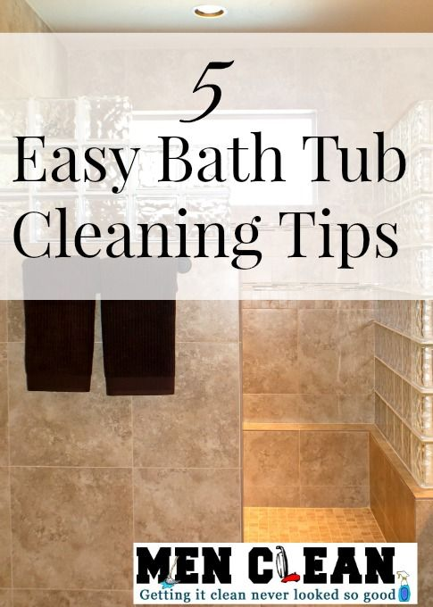 Give your bathtub a good scrub down, here are some tips to make bathtub cleaning easy.
