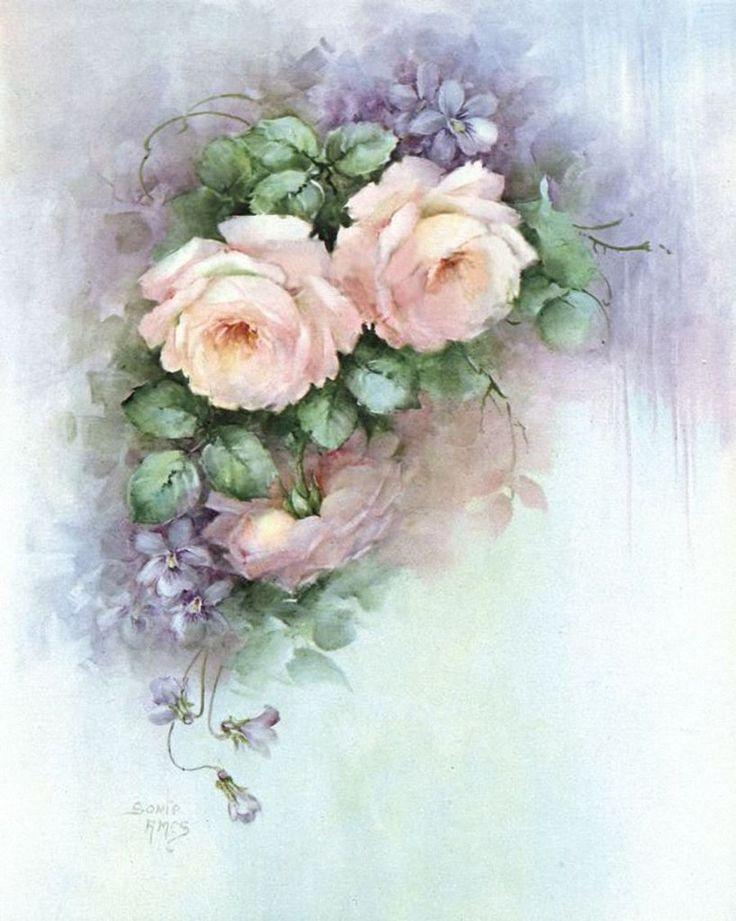 Нежные винтажные цветы картинки