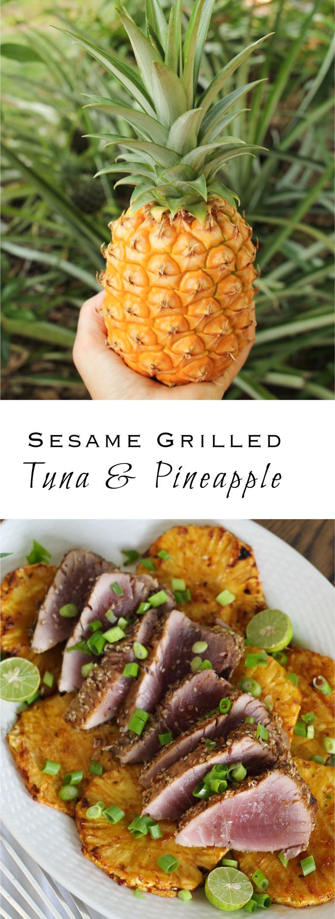 Sesame Grilled Blackfin Tuna with Pineapple and Lime