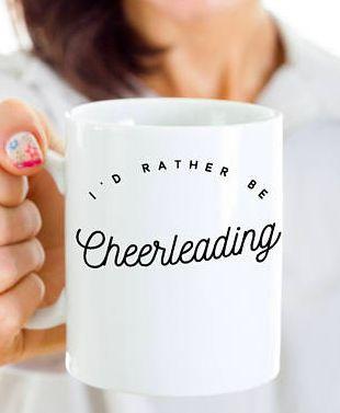 $14.95. Funny Cheerleader Gift - Cheerleader Mug - Gift For Cheerleading Coach - Cheerleading Coffee Cup - I'd Rather Be Cheerleading  #cheerleading #ad