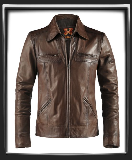 Lynch - vintage leather jacket in brown by soul revolver