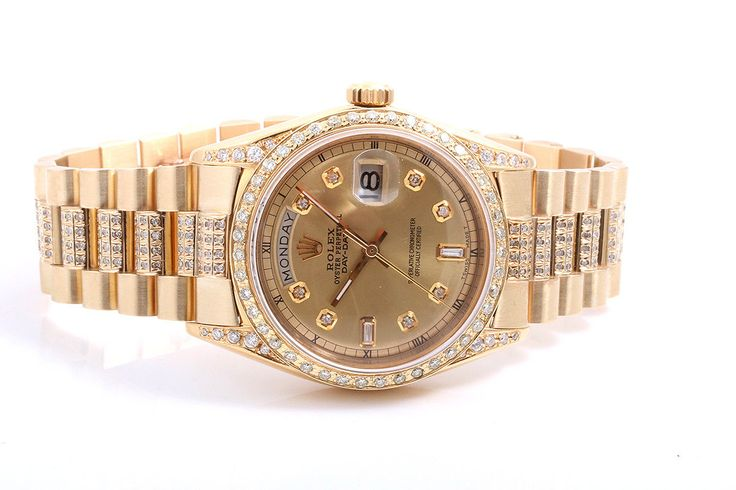 #Forsale #Rolex Yellow Gold Day Date President Diamond Dial Diamond Band Diamond Bezel - Price @$11,100.00