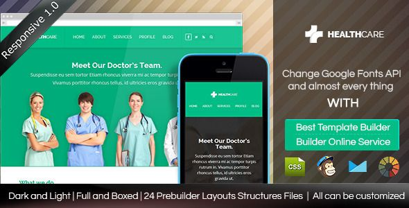Health Care - Responsive Email Template + Builder