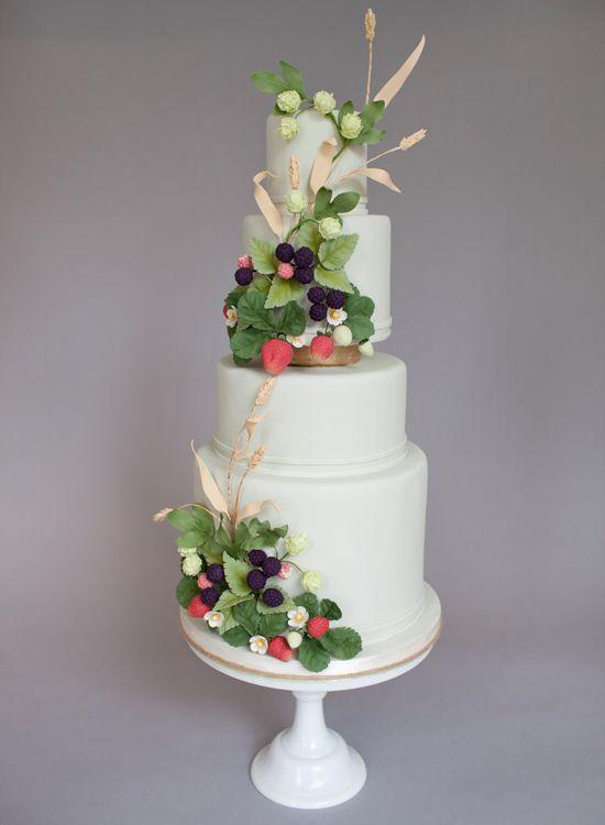 Country garden inspired cake. One of Wedding Bells Magazine's top 20 prettiest cakes!     www.annaelizabethcakes.com