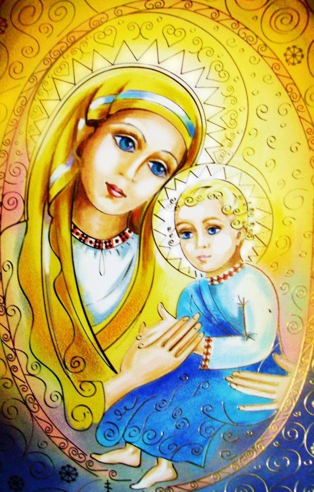 "Ukrainian Madonna"" painted by Angeli Isachanova"