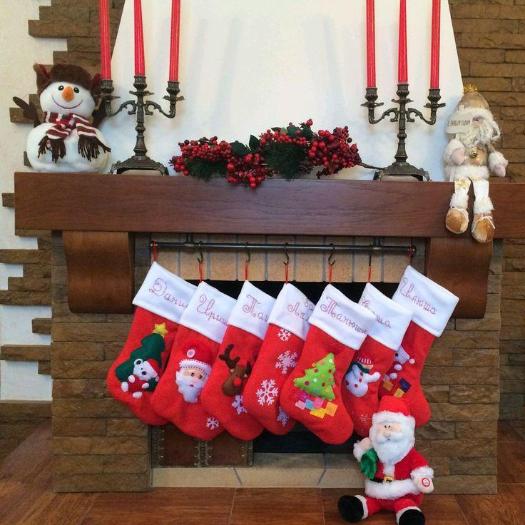 Купить Новогодний сапожок - ярко-красный, новогодний сапожок, новогодний носок, новогодний подарок, рождество