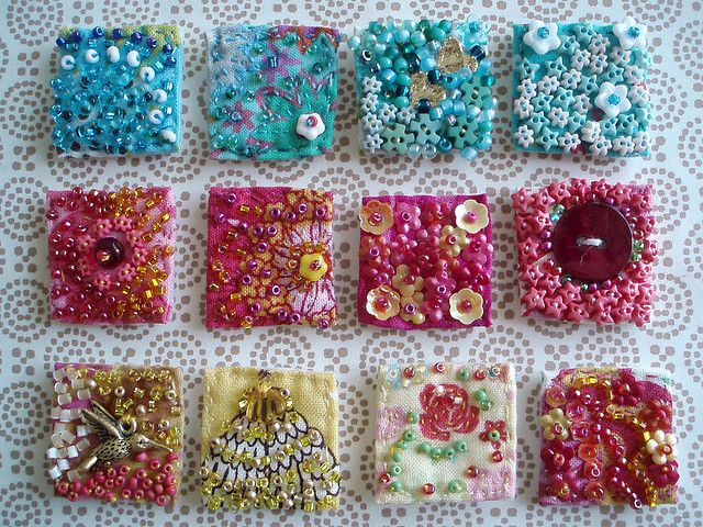 Fabric Inchies | inchies i made these 12 fabric inchies for botrofix yvonne here on ...