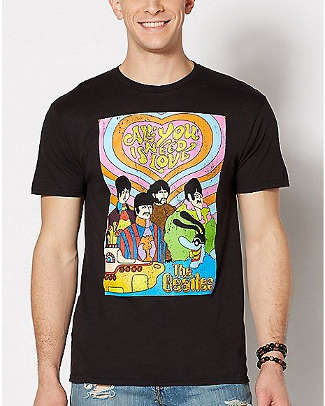 b7266eecf All You Need Is Love The Beatles T Shirt - Spencer's   Emo fashion ...