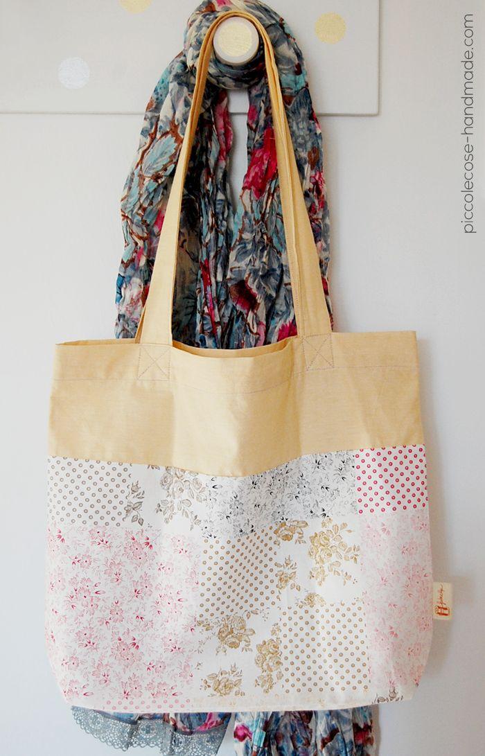 Piccolecose: Una passeggiata tipo di primavera...mai senza una tote bag! #handmade