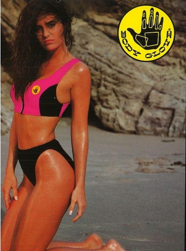 Body Glove Womens Love Solid Retro Crop Bikini Top Swimsuit